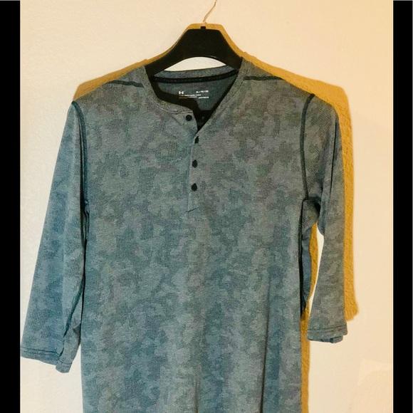 UA Men's Threadborne Fitted ¾ Utility XL Shirt